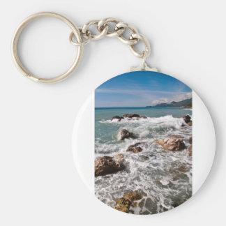Fuerza meditativa del mar - isla Sicilia Llavero Redondo Tipo Pin