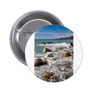 Fuerza meditativa del mar - isla Sicilia Pin Redondo 5 Cm