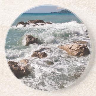 Fuerza meditativa del mar - isla Sicilia Portavasos