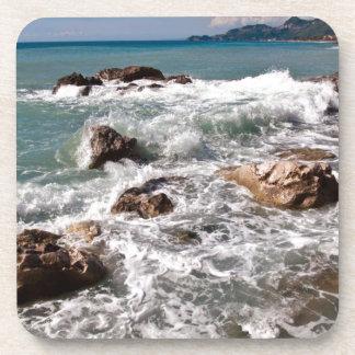 Fuerza meditativa del mar - isla Sicilia Posavasos De Bebida