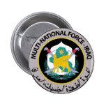 Fuerza multinacional - Iraq (1) Pin Redondo De 2 Pulgadas