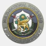 Fuerza multinacional - Iraq Pegatina Redonda
