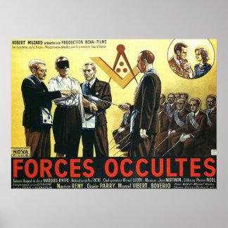 Fuerza occultes de Paul Riche 1943 Póster
