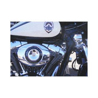 Fuerza policial de la motocicleta impresión en lona