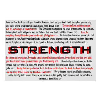 Fuerza - poster bíblico