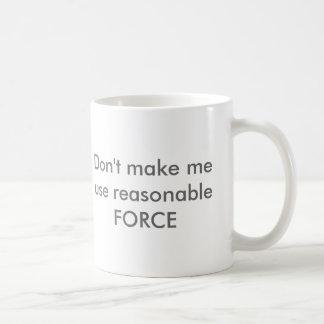 Fuerza razonable taza básica blanca