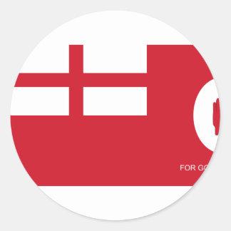 Fuerza voluntaria leal bandera de Colombia Etiquetas Redondas