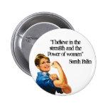 Fuerza y poder del botón de las mujeres pin