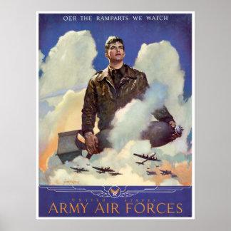 Fuerzas aéreas del ejército póster