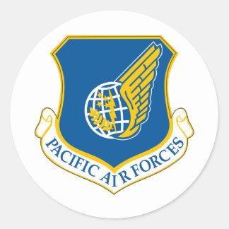 Fuerzas aéreas pacíficas pegatina redonda