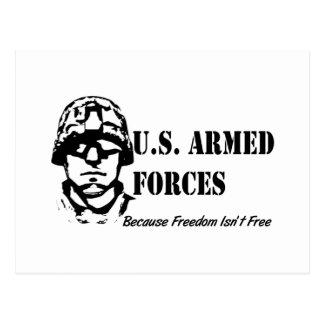 Fuerzas armadas de arma de los E.E.U.U. (negro) Postales