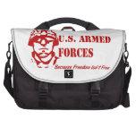 Fuerzas armadas de arma de los E.E.U.U. (rojas) Bolsas De Portatil