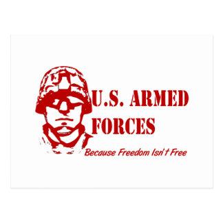 Fuerzas armadas de arma de los E.E.U.U. (rojas) Postales