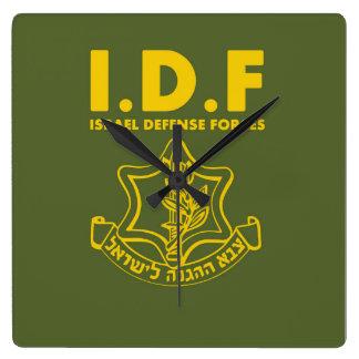 Fuerzas de defensa de la CA Israel - INGLESES Reloj Cuadrado
