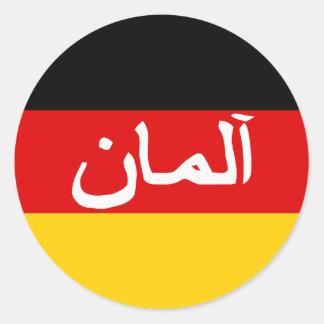 Fuerzas de Isaf del alemán, bandera de Alemania Pegatina Redonda