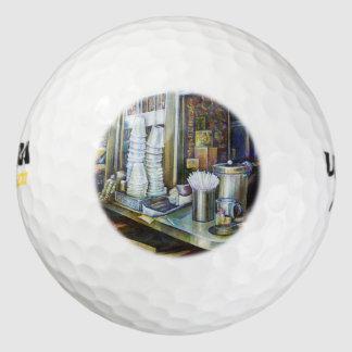 Fuerzas emocionalmente cargadas de la luz, pack de pelotas de golf