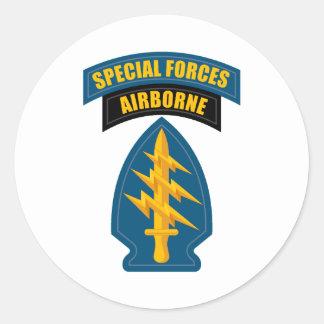 Fuerzas especiales aerotransportadas pegatina redonda
