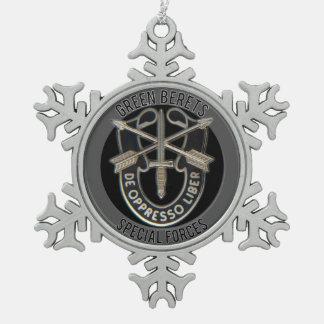 Fuerzas especiales GB Adorno De Peltre En Forma De Copo De Nieve
