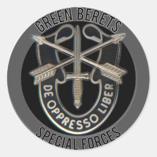 Fuerzas especiales GB Pegatina Redonda