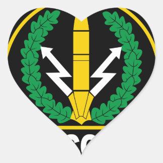 Fuerzas estratégicas del Rocketry del ruso (RVSN), Pegatina De Corazón