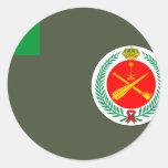 Fuerzas, Sao Tome y Princ reales de la defensa Etiquetas Redondas