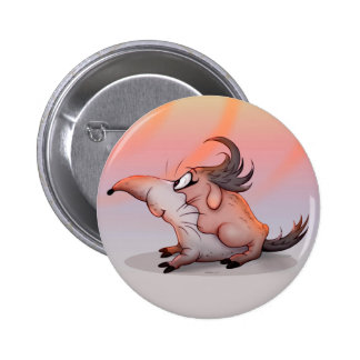 FUFFO ALIEN MONSTER CARTOON Round Button 2¼ Inch