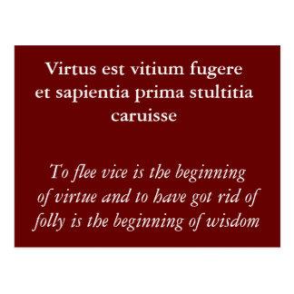Fugere del vitium de Virtus est Postales