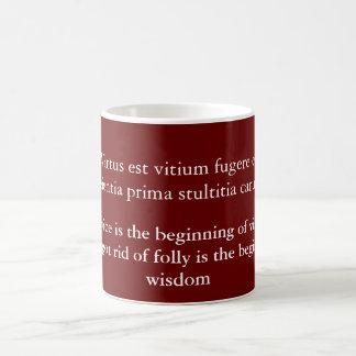Fugere del vitium de Virtus est Taza