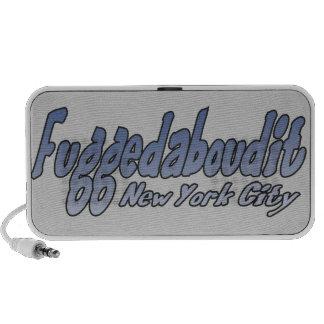 Fuggedaboudit- Brooklyn, NYC Portátil Altavoces