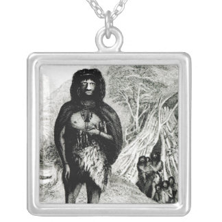 Fugian Man Silver Plated Necklace