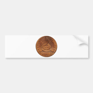 Fugio Cent Mind Your Business Copper Penny Bumper Sticker