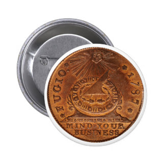 Fugio Cent Mind Your Business Copper Penny Pinback Buttons