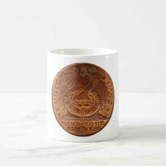 Fugio Cent Mind Your Business Copper Penny Coffee Mug