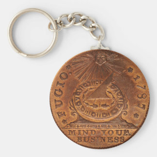 Fugio Cent Mind Your Business Copper Penny Keychain