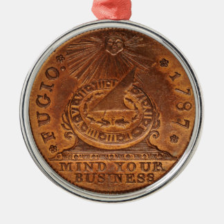 Fugio Cent Mind Your Business Copper Penny Metal Ornament