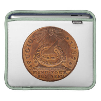Fugio Cent Mind Your Business Copper Penny Sleeves For iPads