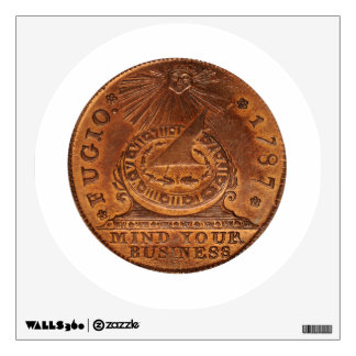 Fugio Cent Mind Your Business Copper Penny Wall Sticker