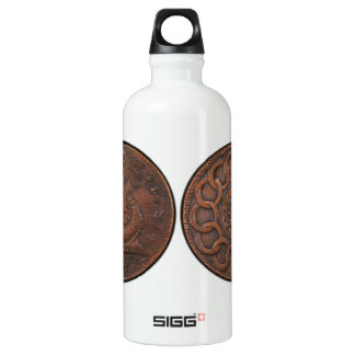Fugio Cent Mind Your Business Front and Back Aluminum Water Bottle