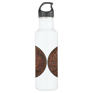 Fugio Cent Mind Your Business Front and Back Water Bottle