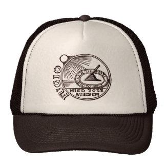 """""""FUGIO: MIND YOUR BUSINESS"""" Benjamin Franklin Trucker Hat"""