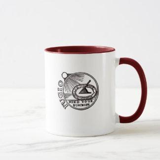 """""""FUGIO: MIND YOUR BUSINESS"""" Benjamin Franklin Mug"""