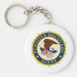 Fugitive Recovery Agent Basic Round Button Keychain