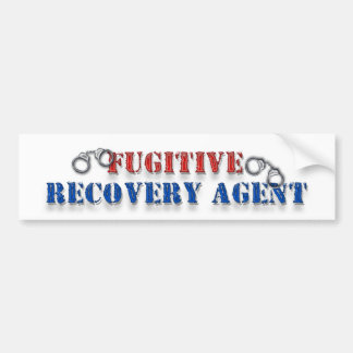 Fugitive Recovery Agent Car Bumper Sticker