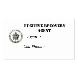 Fugitive Recovery Agent Business Card