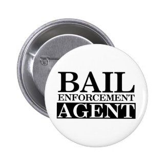 Fugitive Recovery Agent Pinback Button