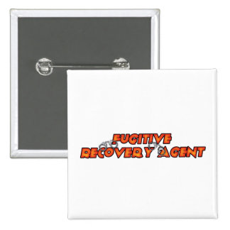Fugitive Recovery Agent - Fire 2 Inch Square Button