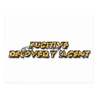 Fugitive Recovery Agent - Gold Postcard