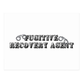 Fugitive Recovery Agent - Silver Postcard