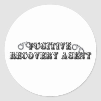 Fugitive Recovery Agent - Silver Classic Round Sticker