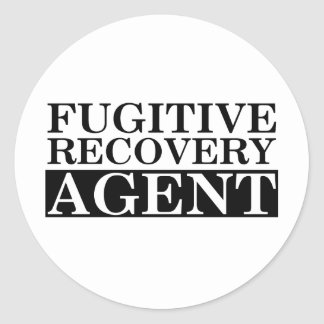 Fugitive Recovery Agent Classic Round Sticker